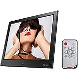Hama Digitaler Bilderrahmen 'Slimline Basic' (24,64 cm (9,7 Zoll), SD/SDHC/MMC-Kartenslot, USB 2.0, elektronischer Bilderrahmen mit Fernbedienung, Zufallswiedergabe) schwarz