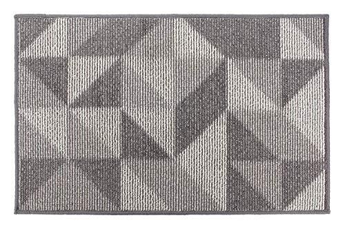 Fußmatte von eBoutik, waschmaschinenfest, Schmutzfangmatte, TPR-Anti-Rutsch-Technologie-Teppich, Polypropylen, grau, 50cm * 80cm