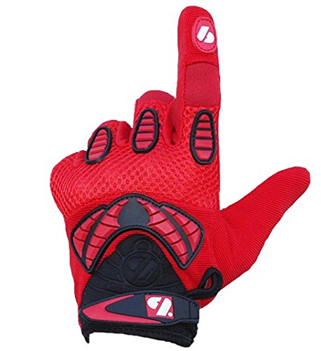 FRG-02 American Football Handschuhe Receiver, Empfänger fit, RE,DB,RB, rot (L)