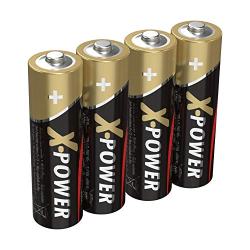 ANSMANN X-Power Alkaline Batterie Mignon AA LR6 Longlife Alkalibatterie für extrem hohen Strombedarf (4er Pack)