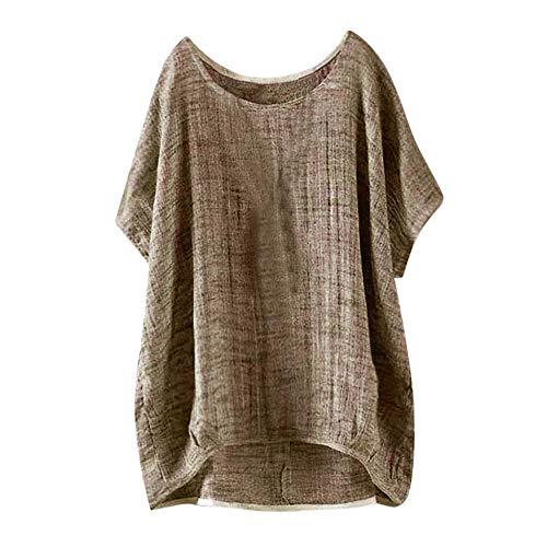 YEBIRAL Damen Sommer Einfarbig Langarm Reißverschluss mit V-Ausschnitt Chiffon Lässige Tops Bluse T-Shirt(EU-42/CN-XL,Weiß)