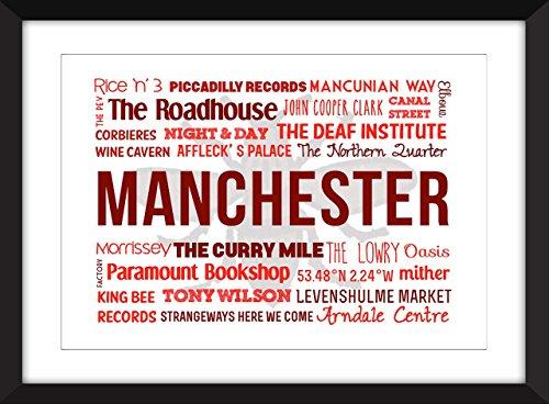 Manchester Typografie Druck - Eine Feier von Manchester