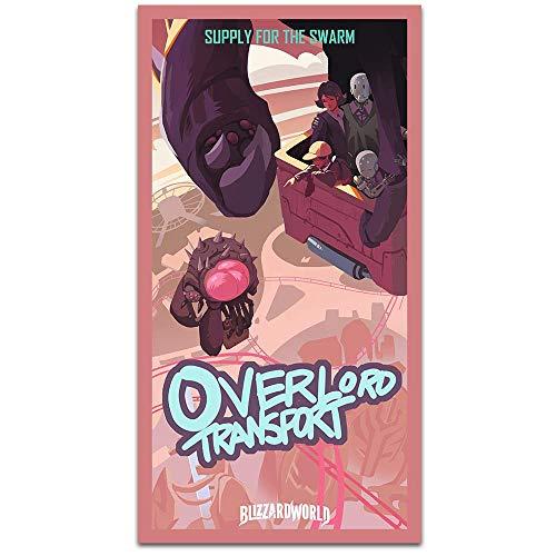 Cartoon Film Poster Leinwand Malerei Spiel Wandkunst Overlord Transport Murloc Island Reise nach Aiur Bilddruck Wohnzimmer 80 * 140cm