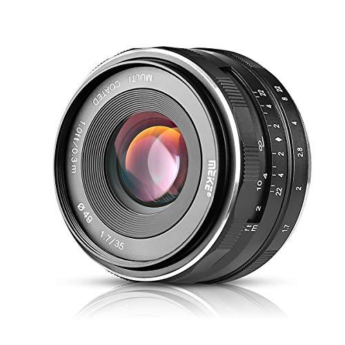 Meike MK-35mm F1.7 Große Blende Fester manueller Fokus Kameraobjektiv für Sony A5000 A5100 A6400 A6500 A6300 A6000 A6100 NEX3 NEX5 NEX6 NEX7