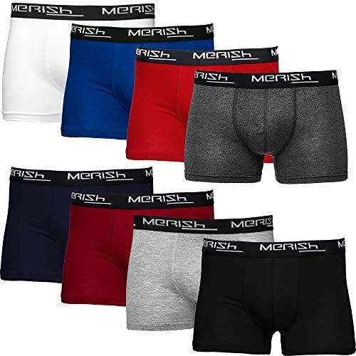 MERISH Boxershorts Herren 8er Pack S-5XL Unterwäsche Unterhosen Männer Men (L, 216d 8er Set Mehrfarbig)