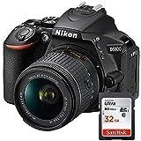 Nikon D5600 - Spiegelreflexkamera + Objektiv AF-P DX NIKKOR 18-55mm f/3.5-5.6G + SanDisk Ultra 32GB SDHC - Schwarz