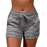 Dame Sommer Shorts,Sunday Damenhosen Kurze Strand Sportshorts Freizeit Shorts Mini Shorts mit Taschen