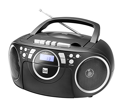 Kassettenradio mit CD • UKW-Radio • Boombox • CD-Player • Stereo Lautsprecher • AUX-Eingang • Netz- / Batteriebetrieb • Tragbar • Schwarz • Dual P 70
