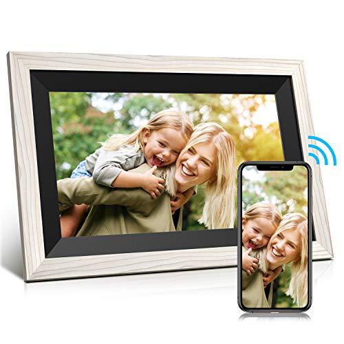 Jeemak Digitaler Bilderrahmen 12,5 Zoll WLAN Fotorahmen IPS Touchscreen High Resolution (1920 x 1080) Fotos und Video können jederzeit und von überall(32GB