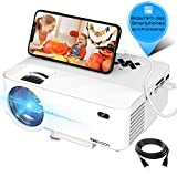 Mini Beamer, 3800 Lumen TOPVISION Synchronize Smartphone Screen Video projektor, 1080P unterstützt, 176' Display, 50000 Stunden LED, kompatibel mit HDMI / USB / TV / DVD für Home Entertainment Office