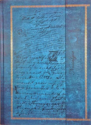 Tagebuch 'Edle Schriften' Notizbuch Din A4 gepunktet / liniert Hardcover Magnetverschluss & Prägung gebunden türkis / braun Vintage-Look Reisetagebuch