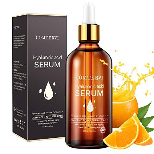 MayBeau 100ml Vitamin C Serum für Gesicht & Haut, Natürliche Antiaging Serum mit Hyaluronsäur + Vitamin C + Vitamin A (Retinol), Anti Falten, Feine Linien und Augenringe Feuchtigkeitspflege