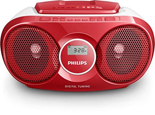 Philips Soundmachine AZ215R/12 CD-Soundmachine (Dynamic Bass Boost, Digitaler UKW-Tuner, 3 Watt, Audio-Eingang) rot
