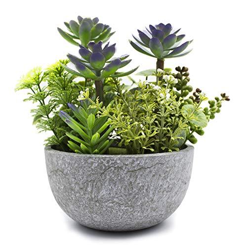 Kelzia Kunstpflanze - Künstliche Pflanzen in Blumentopf - Deko für Büro, Schreibtisch, Regal, Balkon, Zimmer, Wintergarten, Küche, Hochzeit, Bad - Tolles Geschenk für verschiedene Anlässe
