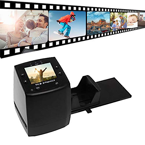 Docooler- EC717/EC718/EC018 Mini Digital Filmscanner, Negativ-Dia-Film-Scanner Konverter Digitaler Foto-Bildbetrachter mit 2,36'' LCD-Editing-Software