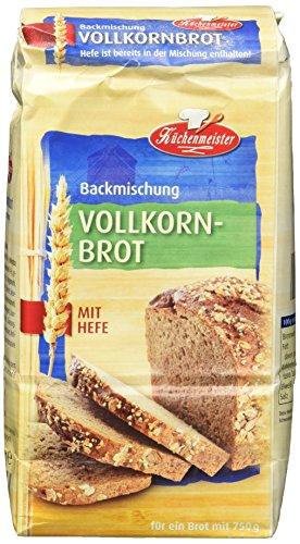 Bielmeier-Küchenmeister Brotbackmischung Vollkornbrot, 500 g (15er Pack)