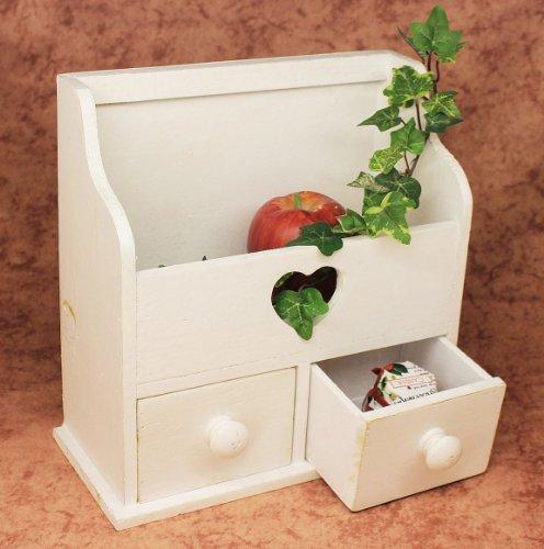 DanDiBo Minikommode Kommode mit 2 Schubladen 12236 Regal 28 cm Schmuckkasten Shabby Regal