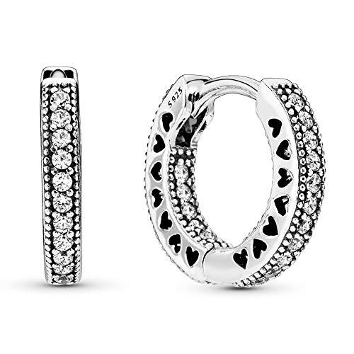 Pandora Pavé-Herz Creolen Sterling Silber 296317CZ