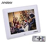 """Andoer 7"""" HD TFT-LCD Digitaler Bilderrahmen mit Diashow Wecker MP3 MP4 Movie Player Remote Desktop"""