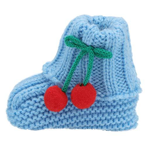 Holibanna 1 Paar Warme Winter Babyschuhe Stricken Gehäkelte Babyschuhe Neugeborene Strickschuhe Weiche Baumwolle Kleinkindschuhe