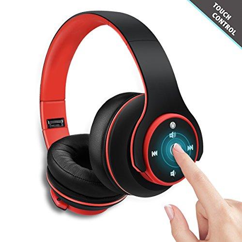 Zonciny Bluetooth Kopfhörer, Stereo Headset Funkkopfhörer - Mit Passiv Geräuschunterdrückung integriertem Mikrofon Freisprechen