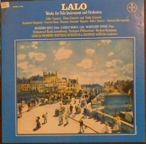 LALO, Works of Solo Instrument and Orchestra [VINYL-BOX]