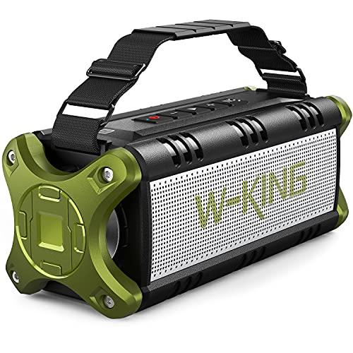 W-KING 50W(70W Gipfel) Bluetooth Lautsprecher IPX6 Wasserdicht, 24 Stunden Laufzeit, 8000mAh Power Bank, 30 Meter Reichweite, Tragbare Bluetooth Speaker Box Lautsprecher Musikbox mit NFC/TF-Karte