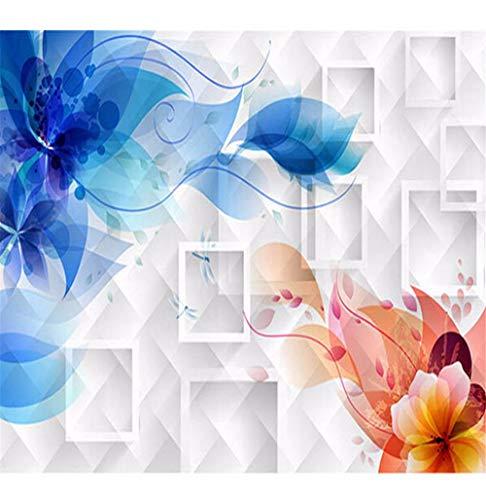 Rureng Manchester City Tapete Wohnzimmer Sofa Kinder Hintergrund Mesh Schattierung Blume Aussehen Dekoration Tapete 3D Wandbild-350X250Cm