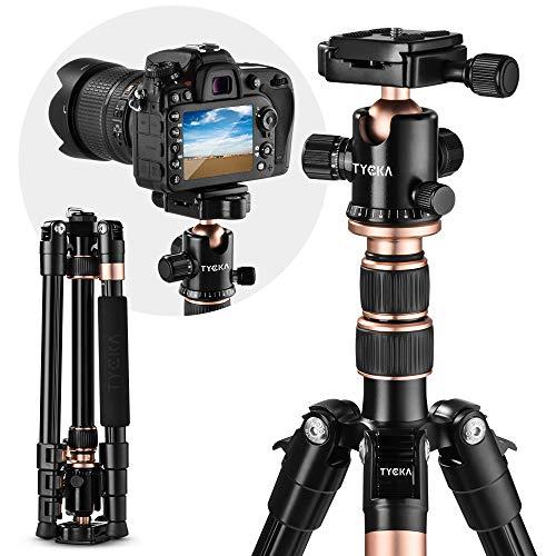 Rangers Kamera Stativ, 141cm Aluminium Reisestativ Fotostativ mit 360° Panorama Kugelkopf, Ultra Kompaktes und Leichtes Design, Ideal für Reisen und Fotografie im Freien