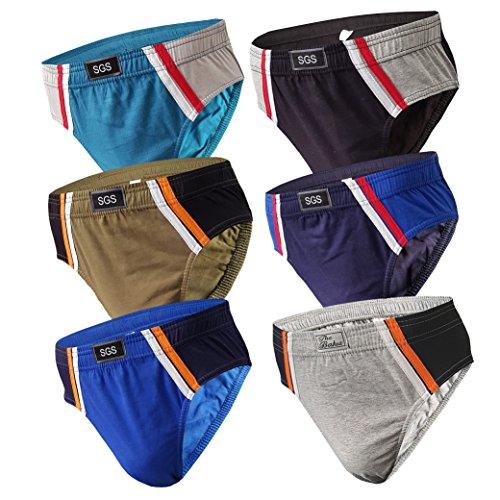 6-12 Slips Herren Unterhosen Männer Slip Unterwäsche (6XL (72-74), 6.Stück 570) Herstellergröße 13