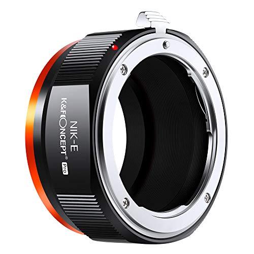 K&F Concept M11105 Nikon NIK-NEX Hochpräziser Objektivadapter, Sekundäre Oxidation Adapter Ring, Sony NEX Adapter, Objektiv Adapterring für Nikon NIK Objektiv auf Sony NEX E-Mount Kamera Sony