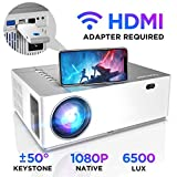Beamer 6500 Lumen Full HD Native 1080p BOMAKER LED Videoprojektor 300 inch Display Zoom ±50°Elektronische Korrektur Dolby unterstützt mit Dual HDMI USB Anschlüsse für Heimkino&Geschäftspräsentation