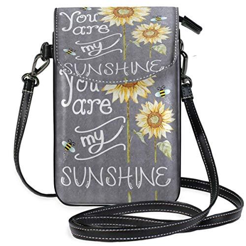 XCNGG Kleine Geldbörse Sunflower Cell Phone Purse Wallet for Women Girl Small Crossbody Purse Bags
