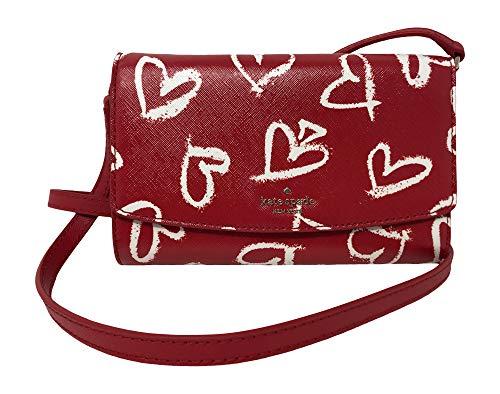 Kate Spade New York Laurel Umhängetasche Way Addison Leder Clutch, Mehrere (Rot/mehrfarbig), Einheitsgröße