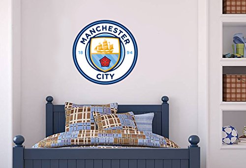Beautiful Game Manchester City Offizielles Wappen Set –, MCFC Wandtattoo, Aufkleber, Fußball, Vinyl (60), Poster-Print