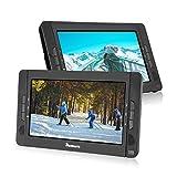 NAVISKAUTO 2 10,1' Tragbarer DVD-Player 5 Stunden Auto Kopfstütze Monitor 1024*600 HD Bildschirm Kopfstützenhalterung, SD/USB, AV IN/OUT 12V 10002B