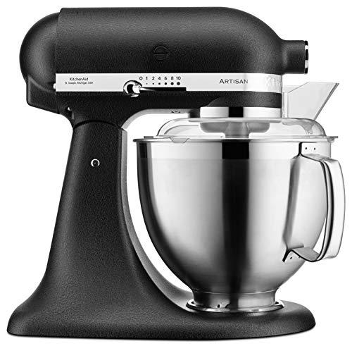 KitchenAid ARTISAN 4,8 L Küchenmaschine mit kippbarem Motorkopf 5KSM185PS (Gusseisen Schwarz)