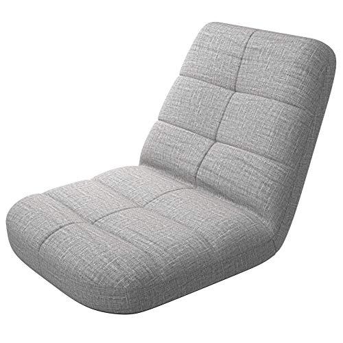 BonVivo Easy Lounge, Gepolsterter Bodenstuhl faltbar, Komfortables Sitzkissen mit Rückenlehne für Zuhause und Büro, Bodensitzkissen mit Verstellbarer Lehne für Meditation oder Gaming, blau oder grau