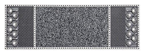 CarFashion 257743 Pur|Centerclean Outdoor Fußmatte schmal mit Hochwirksamer Textileinlage und einer Scraper-fläche, TPE-VC 100% Nachhaltig, Anthrazit, 75 x 25 cm