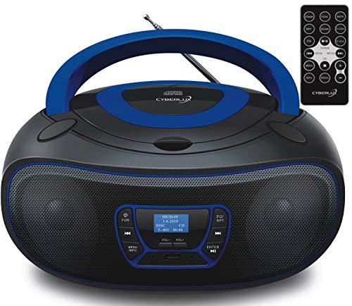 Tragbarer DAB+ CD-Player | Boombox | CD/CD-R | USB | Digitales FM Radio | 30 Speicherplätze | AUX-In | Fernbedienung | Kopfhöreranschluss | Kinder Radio | CD-Radio | Stereoanlage | Kompaktanlage