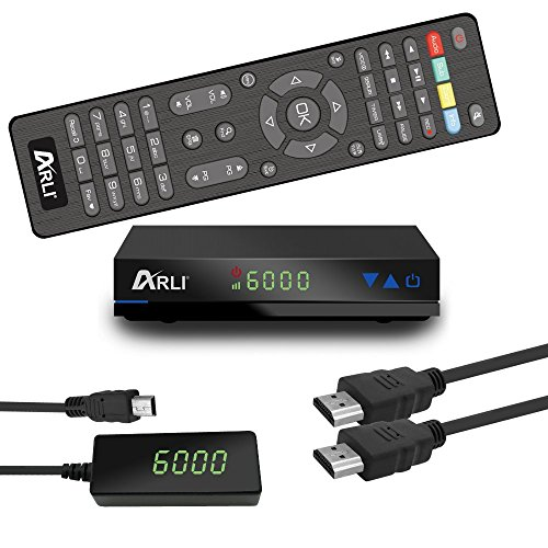 ARLI AH1 HD Sat Receiver vorprogrammiert Kanalliste Astra Hotbird Türksat Digitaler Satelliten FullHD Receiver Mini DVB-S2 USB 1080p 12V Netzteil
