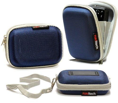 Navitech blaue Wasser wiederständige Harte Digital Kamera Tasche für das Samsung WB30F / ST150F / DV150F / ST200F / DV151F / ST72 / ST77 / DV300F / WB750 / WB700 / WB210 / T96 / ST95 / ST93 / ST700 / ST66 / ST65 / ST6500 / ST30 / PL210 / PL20 / PL170 / PL120 / MV800 / ES90 / ES80 / MV900F / EX2F / SH100