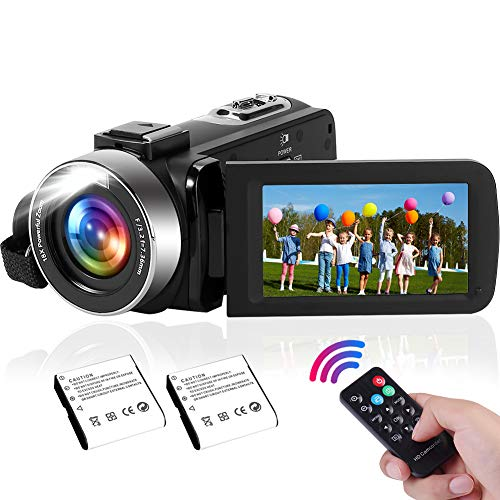 Camcorder 2.7K Video Camera with Built-in LED Fill Light, 42MP 30FPS FHD YouTube Video Recording Lightweight Camcorder 18x Digital Zoom Suppor Webcam