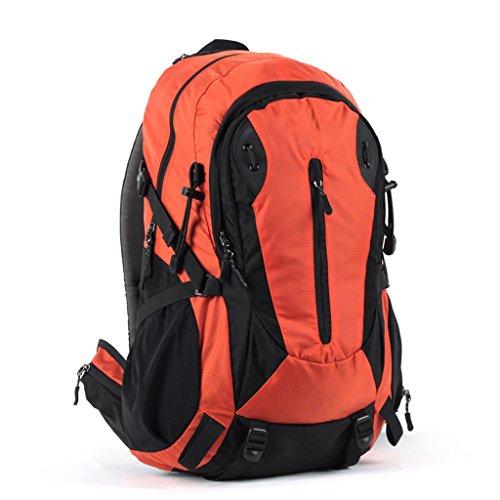 AX-Dshan Wandern Rucksack, Outdoor Bergsteigen Tasche wasserdicht große Kapazität Sport Reiten Camping Wandern Rucksack Männer und Women40L. (Color : Orange)
