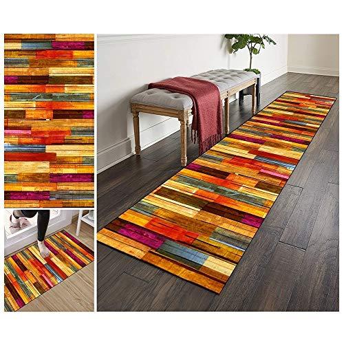 ZVEZVI Teppich Läufer Flur Küche rutschfest Waschbar Bunt Lange Vintage Kücheläufer Teppichläufer Polyester Meterware Anpassbar (Color : Color#1, Size : 60x150cm)