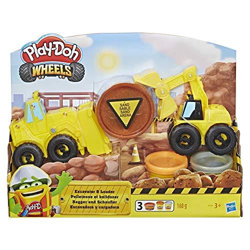 Play-Doh Hasbro Wheels E4294EU4 - Bagger und Schaufler Knete, für fantasievolles und kreatives Spielen