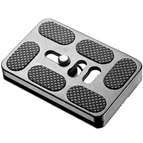 Neewer® PU60Universal schwarz Schnellwechselplatte für Stativ Kugelkopf kompatibel mit Arca, RRS, Manfrotto, Gitzo, Benro Peanklemme