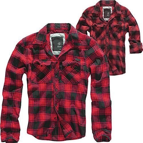 Brandit Check Shirt Herren Baumwoll Hemd M Red-black
