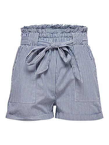 ONLY Damen Shorts Gestreifte MMedium Blue Denim 2