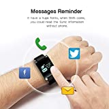 Paperllong X9V0 Bluetooth 4,0 Smart Armband mit 0,95 Zoll OLED Farbdisplay G-Sensor (Farbe: schwarz)